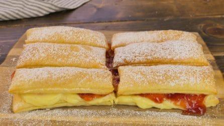 Sfogliate con crema e marmellata: pronte in soli 20 minuti!