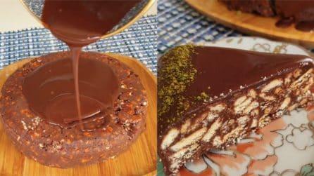 Torta di biscotti al cioccolato: il dessert senza cottura che vi delizierà
