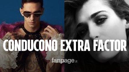 """Extra Factor, i conduttori saranno Achille Lauro e Pilar Fogliati: """"Vogliamo fare cose inaudite"""""""