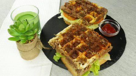 Waffle di carne: un'idea sfiziosa che piacerà a grandi e piccini!