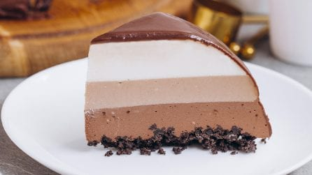 Layered Mocha Cheesecake: a delicacy for those addicted to chocolate!
