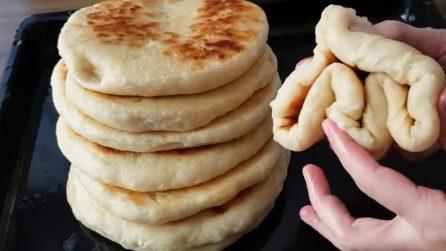 Piadine alte e soffici: la ricetta turca da provare assolutamente