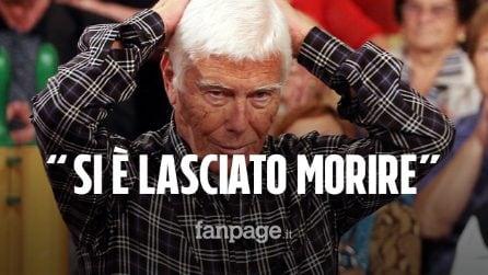 """Beppe Bigazzi, parla l'amico Paolo Tizzanini: """"Si è lasciato morire, non mangiava più"""""""