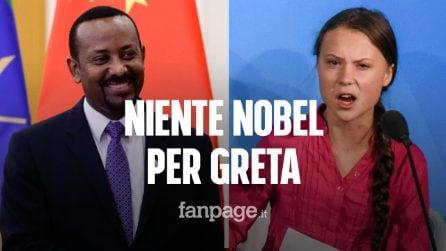 Nobel per la pace, niente da fare per Greta Thunberg: ha vinto Abiy Ahmed Ali