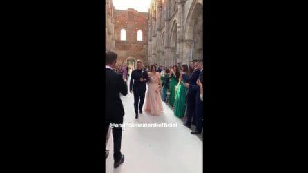 Antonella Clerici al matrimonio di Andrea Mainardi