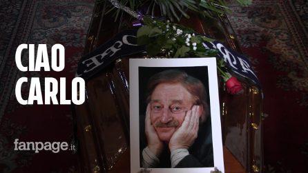 "Folla ai funerali di Carlo Croccolo: ""Salutaci Totò"""