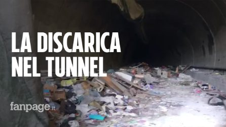 Una discarica nell'ex tunnel della metro: scoperta dai vigili urbani tra Arzano e Napoli
