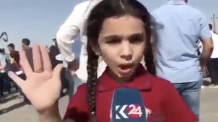 """La bambina curda che chiede la pace a Trump e all'Unicef: """"Fermate la guerra"""""""