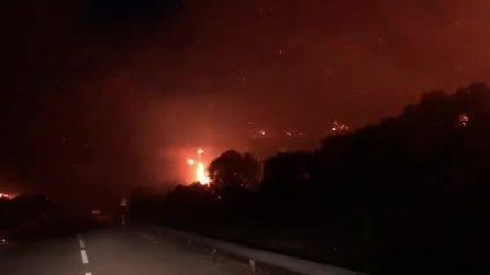 Sardegna, le fiamme divorano l'intera montagna: l'incendio impressionante a Bosa-Alghero