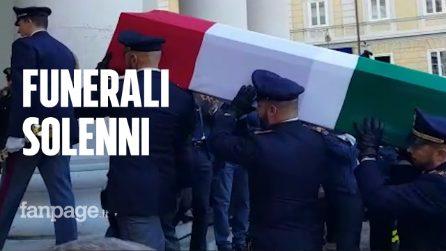 Trieste, i funerali solenni dei poliziotti uccisi il 4 ottobre