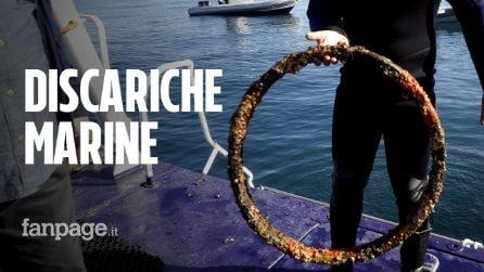 """Reti e ruote di biciclette sui fondali marini di Napoli: """"Bisogna tutelare questi fondali"""""""