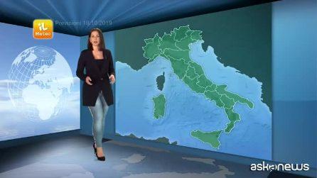 Previsioni meteo per venerdì, 18 ottobre
