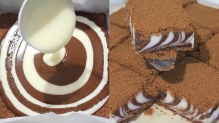 Torta zebrata senza cottura: un dessert originale e delizioso