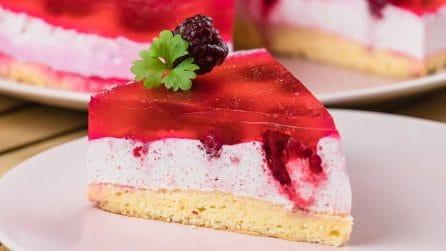 Cheesecake cremosa ai lamponi: tre strati di pura golosità!