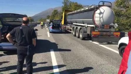 A25, incidente mortale e traffico in tilt