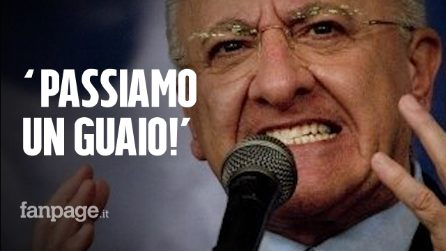"""L'audio di De Luca durante riunione su sprechi: """"Se Corte dei conti se ne accorge passiamo guaio"""""""