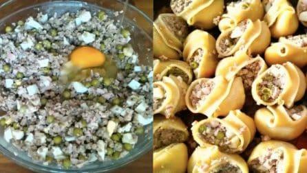 Lumaconi ripieni al forno: il primo piatto ricco e gustoso