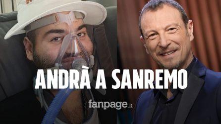 Paolo Palumbo a Sanremo Giovani: malato di Sla, canterà con il comunicatore vocale