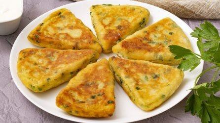 Pane alle patate ripieno di formaggio: si cuoce in padella ed è una vera delizia!