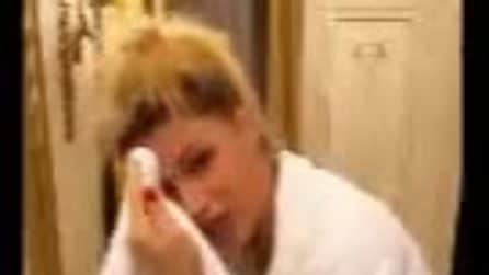 Michelle Hunziker con raffreddore e mal di gola prima della finale di amici Celebrities