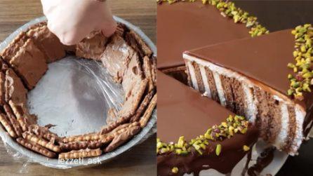 Torta di biscotti al cioccolato: il dessert senza cottura che amerete