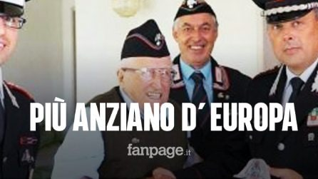 L'uomo più longevo d'Europa ha 110 anni ed è italiano: ecco chi è l'ex carabiniere Giovanni Quarisa