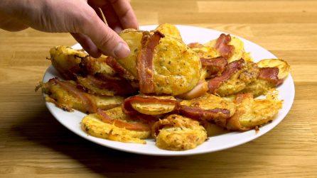 Patate arrotolate con la pancetta: il contorno facile e veloce da leccarsi i baffi!