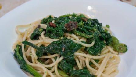 Spaghetti con cime di rapa: un primo piatto semplice e saporito