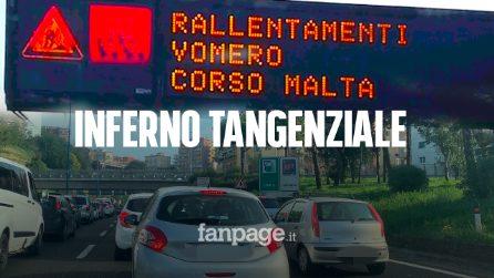Tangenziale Napoli, inferno per i lavori. Code e traffico rallentano la vita dei napoletani