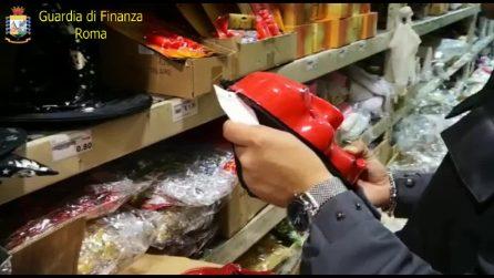 Roma, sequestrati oltre 11mila articoli contraffatti tra maschere, trucchi e giocattoli