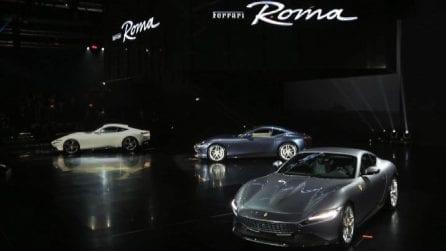 """Arriva la """"Ferrari Roma"""", la nuova coupè svelata nella capitale"""