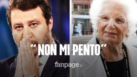 """Matteo Salvini: """"Liliana Segre merita rispetto, ma non mi pento. Balotelli? Polverone esagerato"""""""