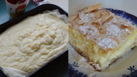 Quadrotti di sfoglia con crema: un dessert goloso e pronto in pochi minuti