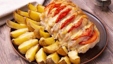 Lonza di maiale ripiena: un piatto succulento per una cena speciale in compagnia!