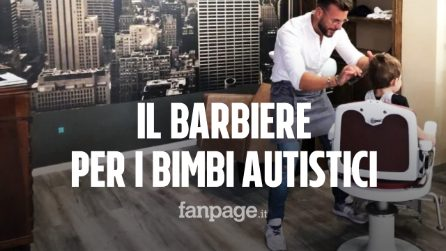 """Christian, il barbiere che apre il suo salone per i bimbi autistici: """"Volevo far qualcosa di utile"""""""