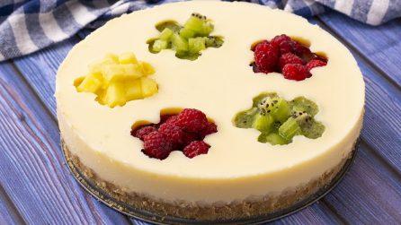 Cheesecake fredda alla frutta: il risultato è così bello che non vedrete l'ora di provarla!