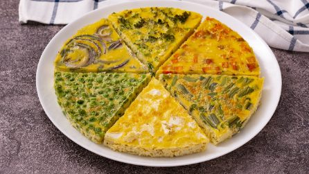 Vegetable frittata: it will be a hit!