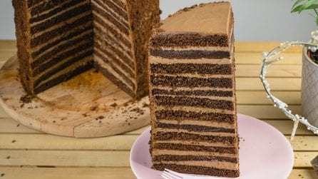 24 layers cake: the most amazing chocolate dessert ever!