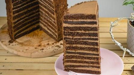 Torta al cioccolato con 24 strati di golosità: il risultato è meraviglioso!