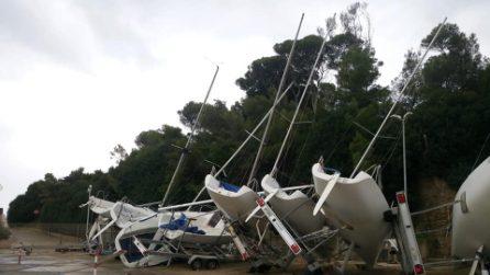 Tromba d'aria a Santa Marinella, danneggiate le barche del porticciolo