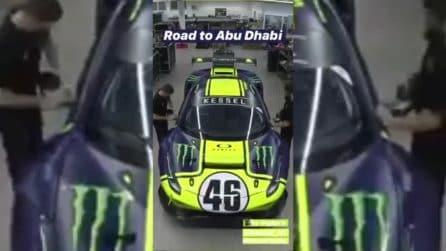 Valentino Rossi, ecco la Ferrari 488 GT della 12 Ore di Abu Dhabi