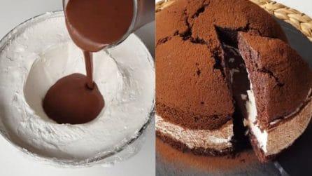 Torta al cioccolato con cuore cremoso: un'esplosione di gusto