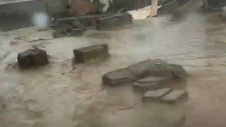 Nubifragio ad Anzio e Lavinio, le strade invase dall'acqua