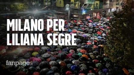 """In migliaia per Liliana Segre al memoriale della Shoah di Milano, la famiglia: """"Siamo commossi"""""""