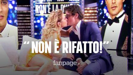 """""""Ti darei un bacio in bocca"""", Barbara D'Urso bacia Gabriel Garko: """"Non è rifatto"""""""
