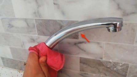 Come pulire il lavello ed eliminare il calcare