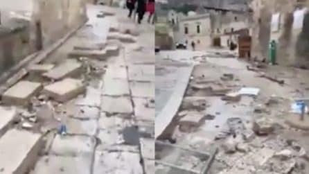 Matera, il nubifragio causa danni ingenti alla città: alcune strutture danneggiate dopo il maltempo