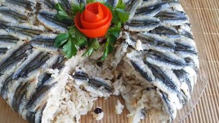 Sformato di alici e riso: la ricetta alternativa per deliziare i tuoi ospiti