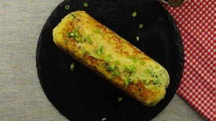 Rotolo di zucchine filante: pronto in padella in 30 minuti!