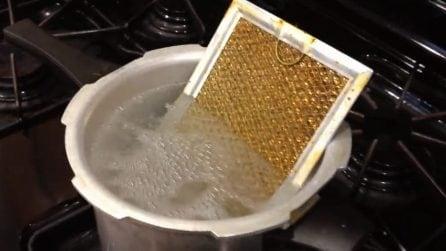 Come pulire il filtro della cappa: il metodo infallibile
